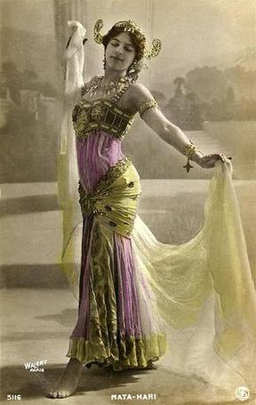 Фото Исполнительница  экзотических танцев и одна из самых известных шпионок времён Первой мировой войны Мата Хари / Mata Hari Открытка 1906-1907 годов