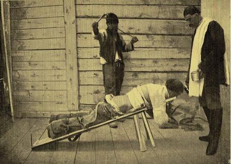 Фото Наказание плетьми на Сахалинской каторге, фото 1899 года