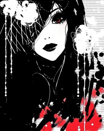 Фото Рисунок девушки в стиле манга (© ВалерияВалердинова), добавлено: 18.10.2012 14:00