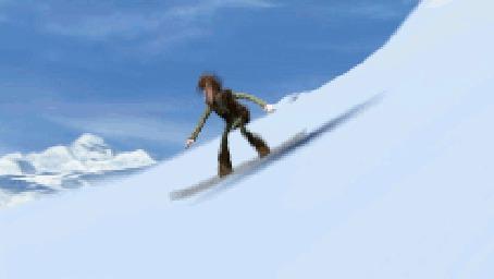 Фото Инккинг катается на сноуборде, использую вместо трамплина дракона Беззубика - мультфильм Как приручить дракона / How to Train Your Dragon