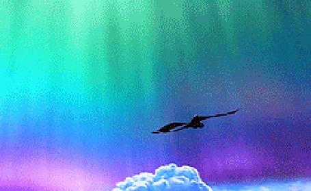 Фото Иккинг летит на драконе Беззубике над облаками - мультфильм Как приручить дракона / How to Train Your Dragon