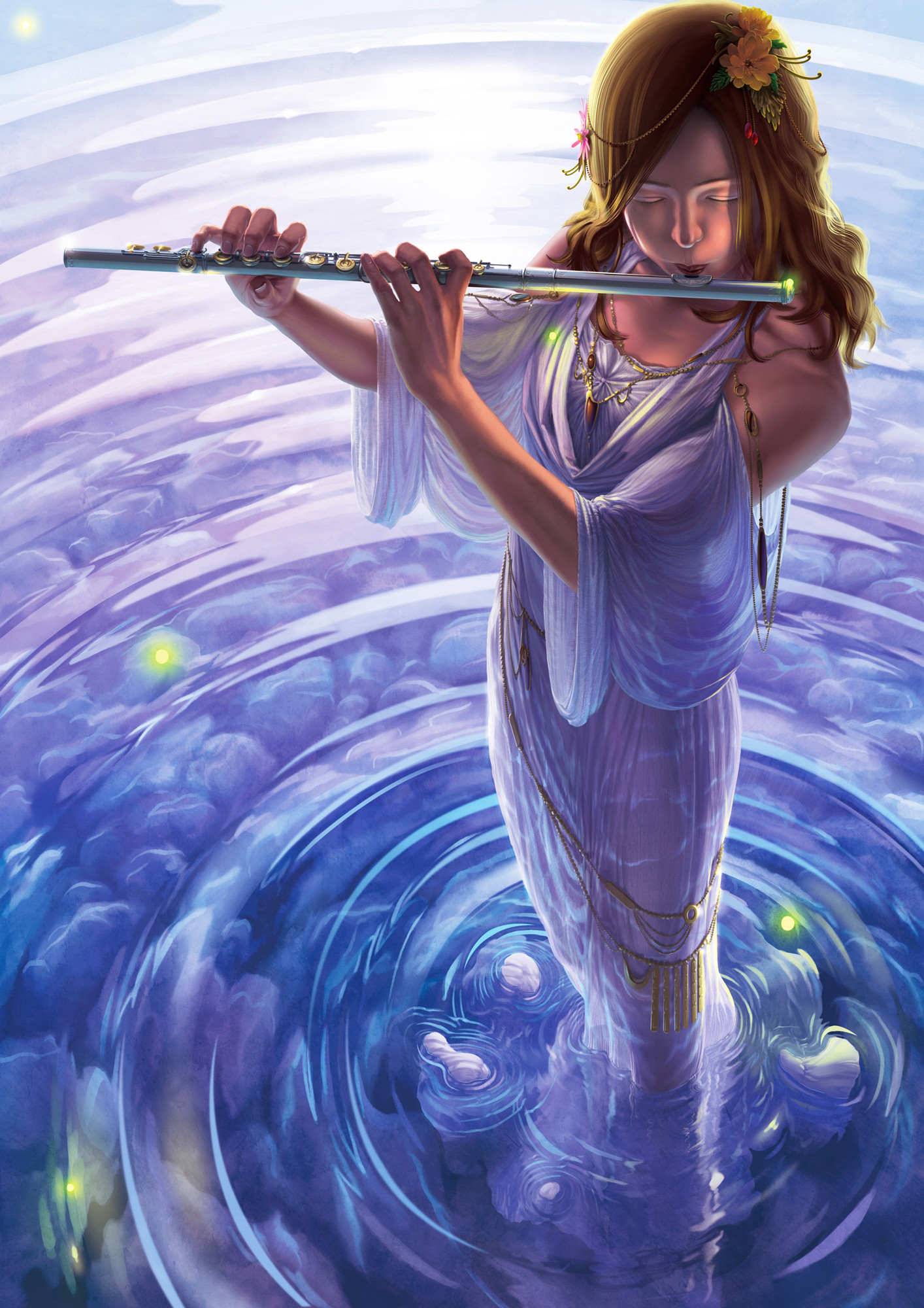Открытки с флейтой