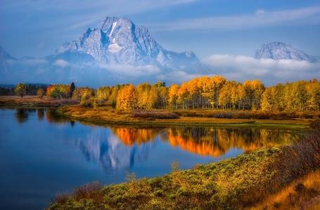 ���� �����-����� � ������������ ���� � ���, �� ������-������ ����� �������� / Grand Teton, United States, Wyoming (� ), ���������: 09.11.2012 09:46
