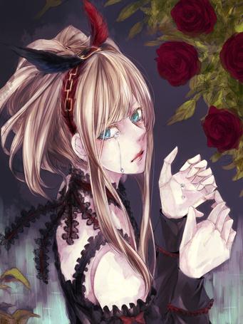 Фото Плачущая девушка и розы (© Krista Zarubin), добавлено: 10.11.2012 12:36