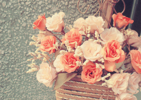 Фото Корзина с нежными розами (© ВалерияВалердинова), добавлено: 21.11.2012 13:54