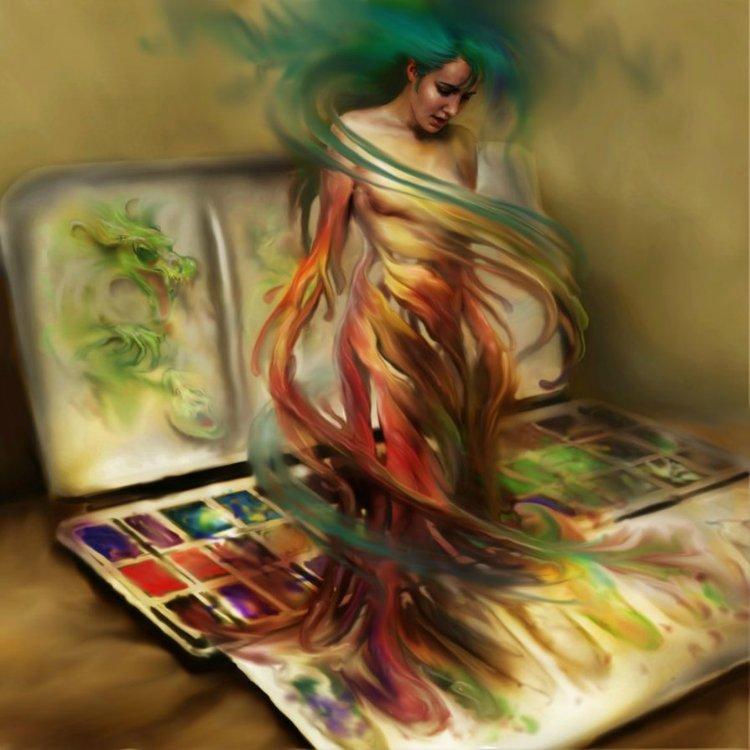 Рисунки девушек художник