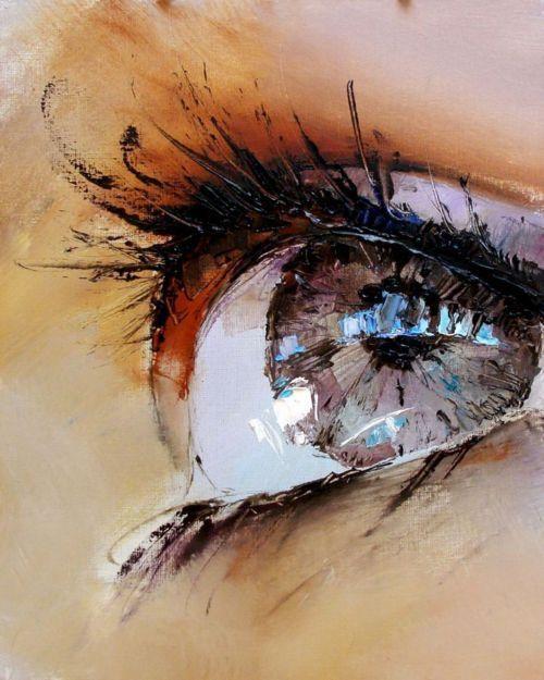 Нарисованные глаза на веках фото - 432e