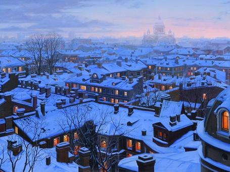 Фото Город Санкт-Петербург зимним вечером