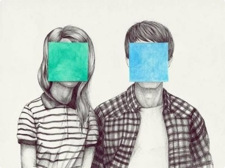Фото Девушка и парень с заклеенными цветной бумагой физиономиями (© СyмАшеDшая Pандa), добавлено: 16.12.2012 11:55