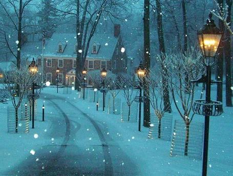 Фото Зима в городке Нью Хоп, Штат Пенсильвания, США / New Hope, Pennsylvania, USA