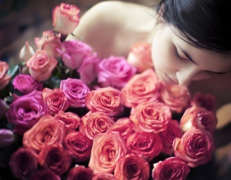 Фото Девушка с букетом роз (© Black Tide), добавлено: 31.12.2012 02:11