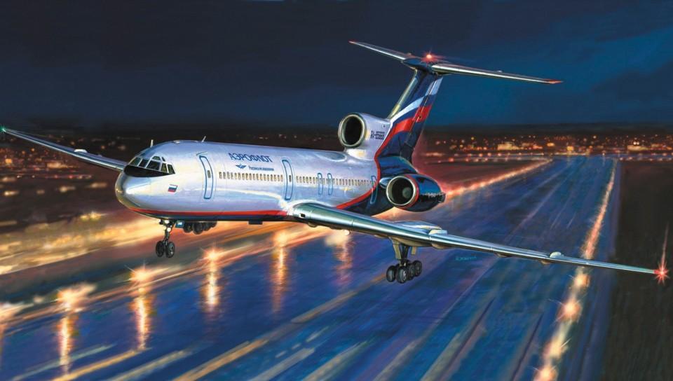 Фото пассажирский самолет ту 154