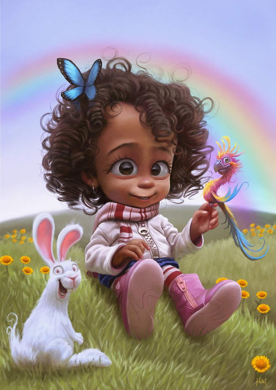 Фото Маленькая девочка с бабочкой на ...: photo.99px.ru/photos/79689