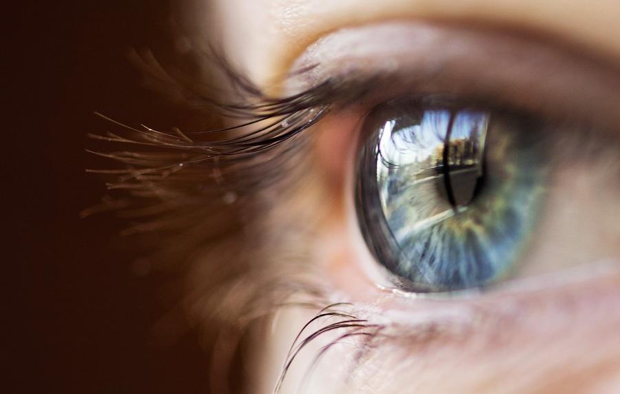 Отражение света в глазах на фото