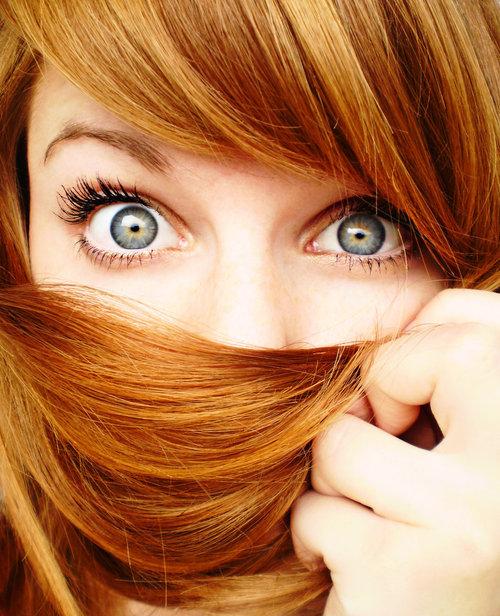 бесплатное фото шоколадный глаз у рыжих дам