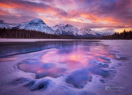 Фото Зимний закат в национальном парке Джаспер, Канада / Jasper, Canada, работа фотографа Чипа Филлипса / Chip Phillips (© Felikc), добавлено: 08.01.2013 19:47