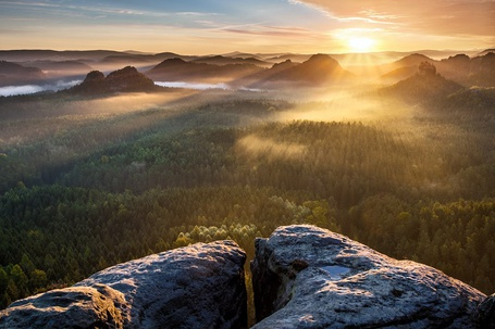 ���� ������������ ���� ���������� ���������, ����� / Saxon Switzerland National Park, Czech Republic (� ), ���������: 09.01.2013 00:48