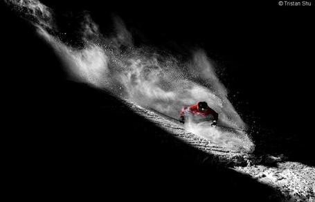 Фото Лыжник, работа фотографа Тристана Шу / Tristan Shu