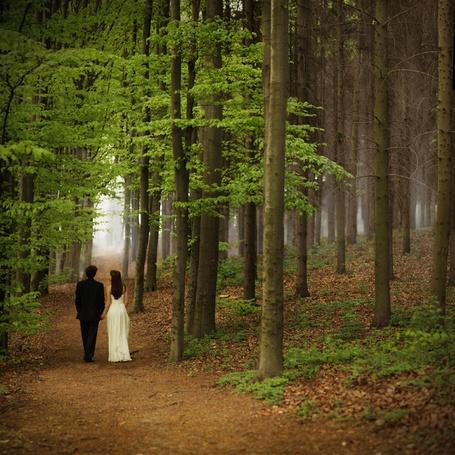 Фото Девушка с мужчиной вместе идут по лесу (автор агентство 'Семейный бизнес' / by аgency 'Family Business') (© Black Tide), добавлено: 12.01.2013 21:42