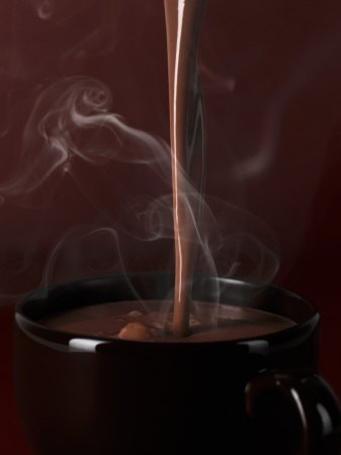Фото Горячий шоколад наливают в чашку (© Black Tide), добавлено: 13.01.2013 17:06