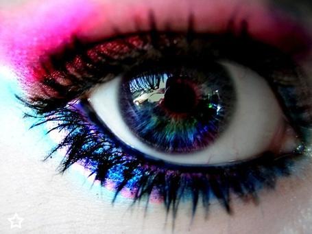 Фото Глаз девушки с разноцветным зрачком