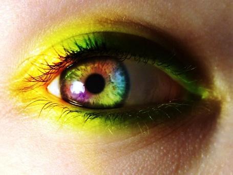 Фото Красивый женский глаз с разноцветным зрачком