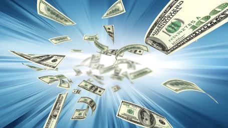 Фото Летящие деньги на фоне сияния (© DaireD), добавлено: 24.01.2013 19:07