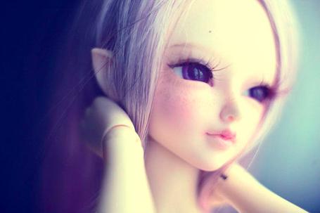 Фото Кукла - блондинка с эльфийскими ушами