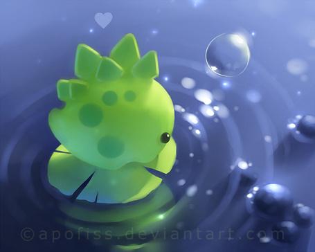 Фото Маленький зелёный дракончик плывёт на листике по реке (© Флориссия), добавлено: 25.01.2013 17:18