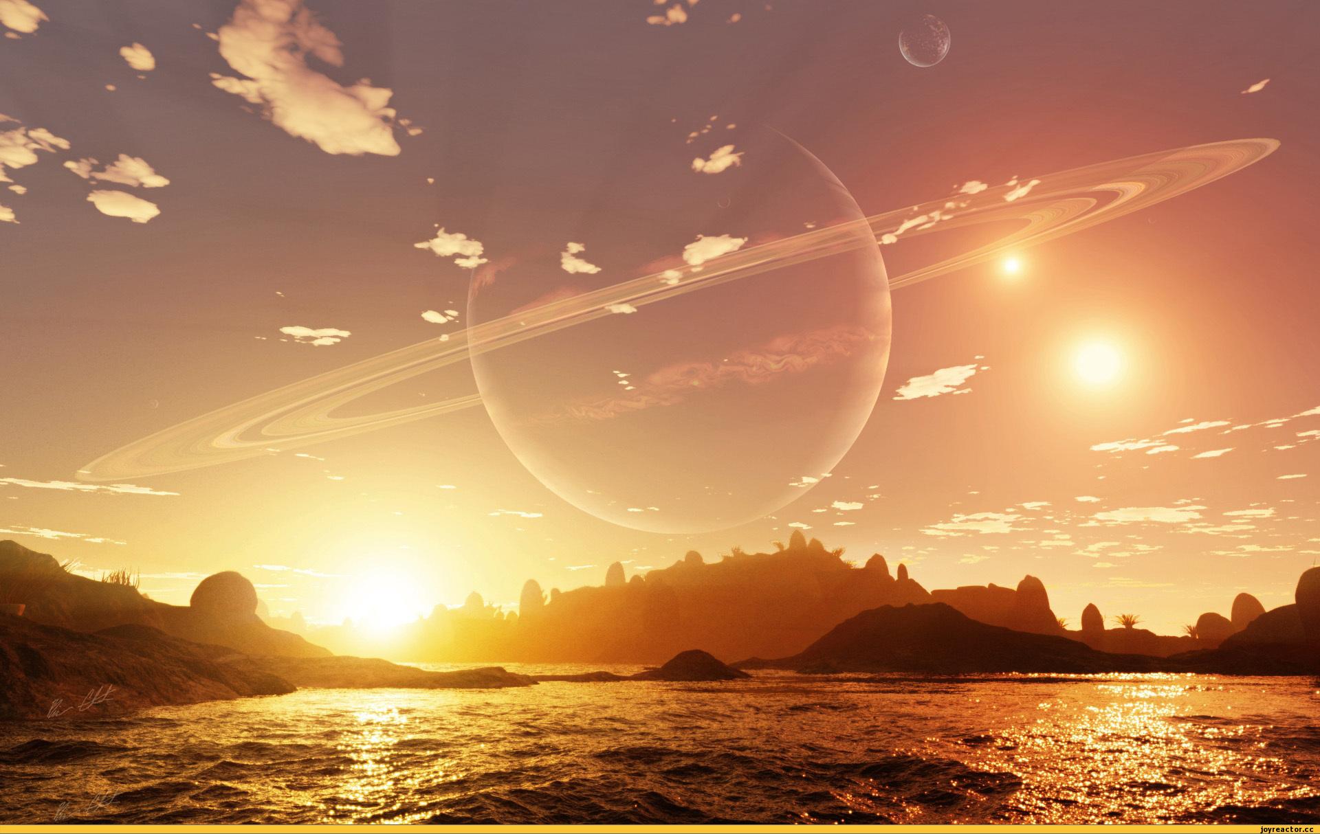 Фото Над морем в небе видна планета Юпитер