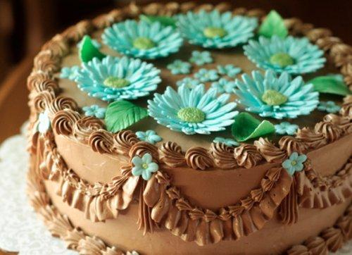 Как сделать цветы из белкового крема на торт