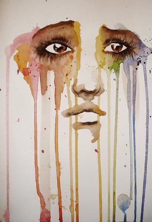 Фото Печальное лицо, художник под псевдонимом PeanutToTheButter