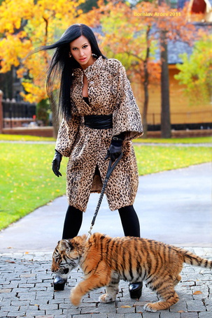 Фото Девушка с тигренком, фотограф Borislav Ardev