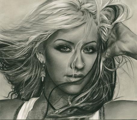 Фото Портрет карандашом Кристины Агилеры / Christina Aguilera (© eka_terinka), добавлено: 23.02.2013 07:05