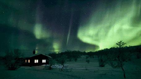 Фото Северное сияние над одиноким домом (© ), добавлено: 27.02.2013 01:06