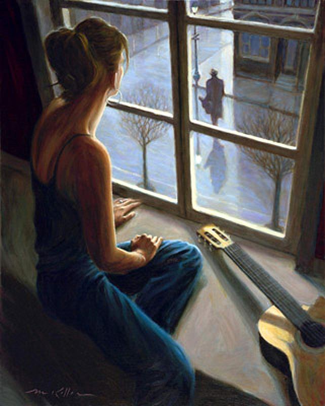 Я тебя рисую сидя у окна кто поет оригинал