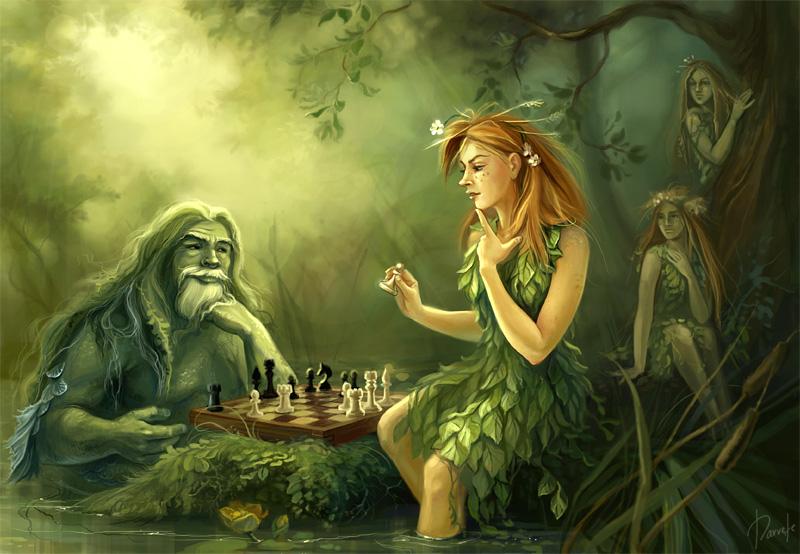 Дети играют в шахматы фото