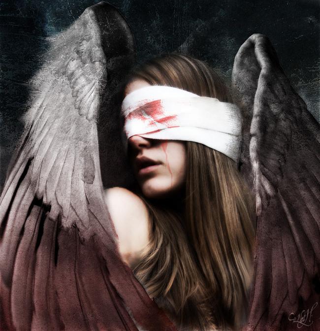 Глаза с завязаными фото девушки