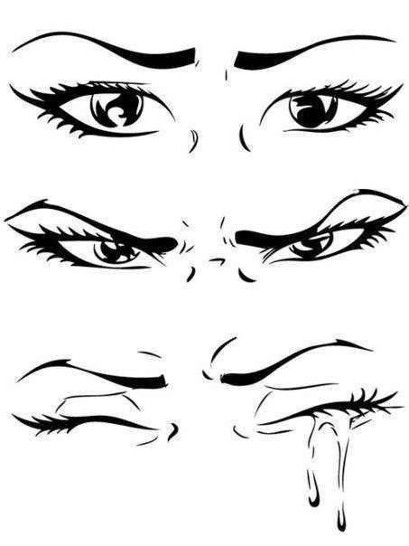 Заплаканные глаза рисунок