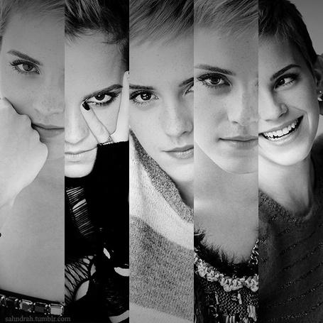 Фото Коллаж из пяти полуфотографий Эммы Уотсон / Emma Watson