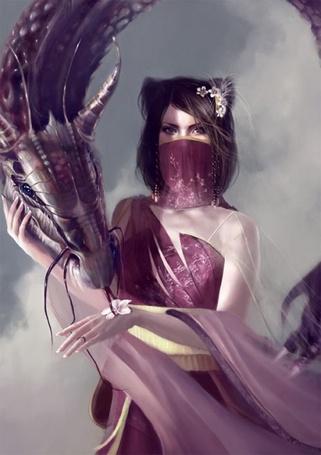 Фото Девушка с цветами в волосах и дракон (© Krista Zarubin), добавлено: 11.03.2013 14:15