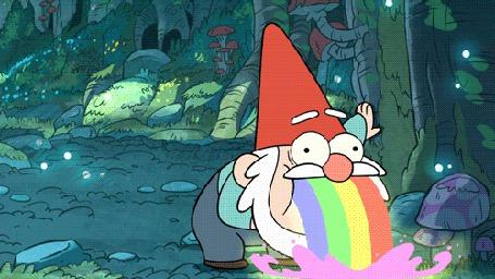 Фото Гном блюет радугой, мультсериал Gravity Falls