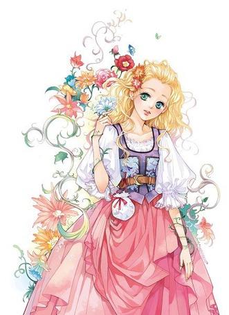 Фото Голубоглазая золотоволосая девушка и много цветов (© Anatol), добавлено: 13.03.2013 19:01