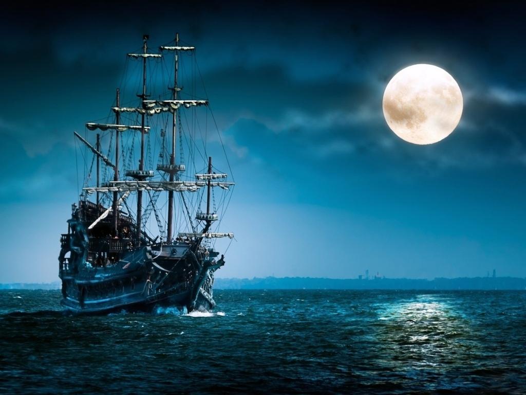 Фото ночного неба с луной