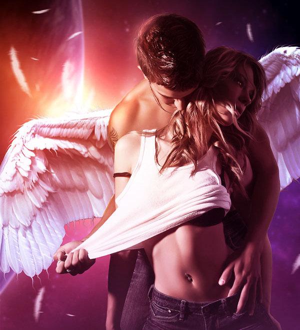 Картинки страсть ангел-мужчина и девушка, мужу днем рождения