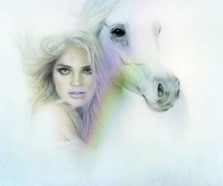 Фото Девушка с белой лошадью (© Флориссия), добавлено: 30.04.2013 13:53