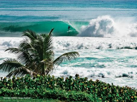Фото Серфер катается на морской волне