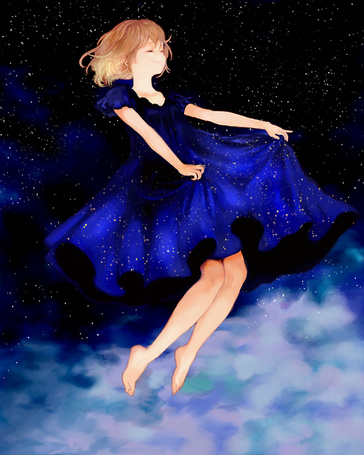 Фото Танцующая девочка в ночном небе (© Cheshire), добавлено: 10.04.2013 13:29