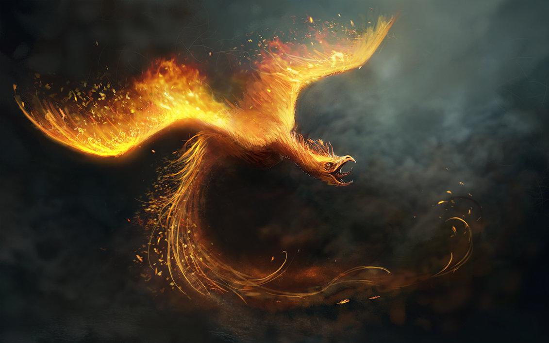 Фото Сияющая птица - феникс