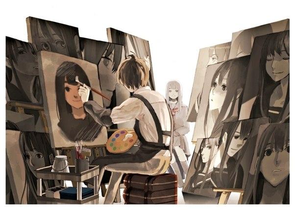 Парень который рисует девушку
